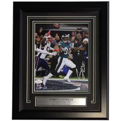 Corey Clement Signed Eagles 11x14 Custom Framed Photo Display (JSA COA)