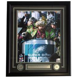 Jason Kelce Signed Super Bowl 52 Parade 22x27 Custom Framed Photo Display (JSA COA)