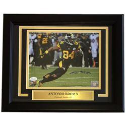 Antonio Brown Signed Steelers 11x14 Custom Framed Photo Display (JSA COA)