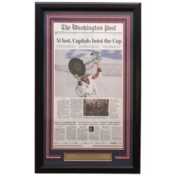 Capitals 18x30 Custom Framed 2018 Stanley Cup Champions Newpaper Page Display