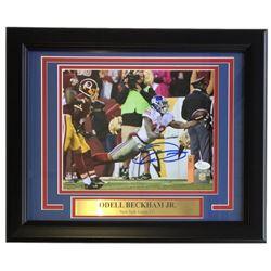 Odell Beckham Jr. Signed Giants 22x27 Custom Framed Photo Display (JSA COA)