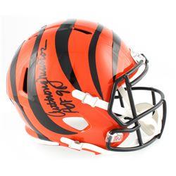 "Anthony Munoz Signed Bengals Full-Size Speed Helmet Inscribed ""HOF 98"" (Radtke COA)"
