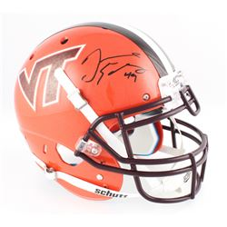 Tremaine Edmunds Signed Virginia Tech Hokies Full-Size Authentic On-Field Helmet (Radtke COA)