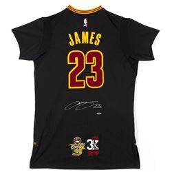 "LeBron James Signed Cavaliers Adidas ""3x MVP""  ""16 Finals"" Patch Pride Jersey (UDA COA)"