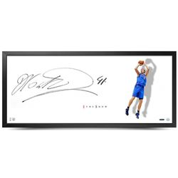 "Dirk Nowitzki Signed Mavericks ""The Show"" 20x46 Custom Framed Lithograph (UDA COA)"