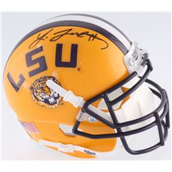 Leonard Fournette Signed LSU Tigers Mini Helmet (JSA COA)