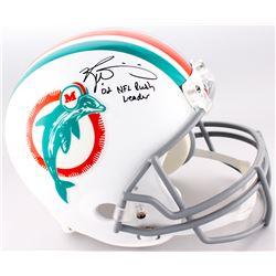 "Ricky Williams Signed Dolphins Full-Size Helmet Inscribed ""'02 NFL Rush Leader"" (Williams Hologram)"