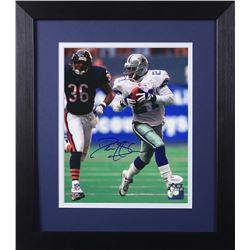 Deion Sanders Signed Cowboys 13.75x15.5 Custom Framed Photo Display (JSA COA)