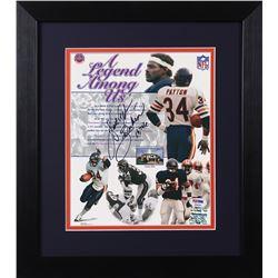 Walter Payton Signed Bears 13.75x15.5 Custom Framed Photo Display (PSA LOA  Payton Hologram)