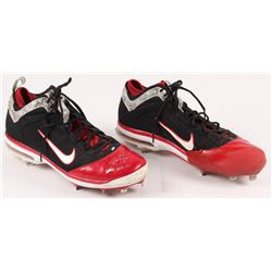 """Jon Lester Signed Pair of Red Sox 2011 Game-Used Nike Cleats Inscribed """"Game Used 2011"""" (ONYX COA)"""