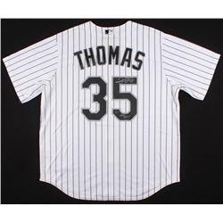 Frank Thomas Signed White Sox Jersey (PSA COA)
