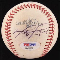 David Ortiz Signed Red Sox 2013 Official Postseason Game-Used Baseball (PSA COA  MLB Hologram)