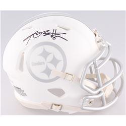 Antonio Brown Signed Steelers Custom Matte White ICE Speed Mini Helmet (JSA COA)