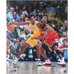 "Kobe Bryant Signed LE 20x24 Photo Inscribed ""5x Champ"" with Michael Jordan (Panini COA)"