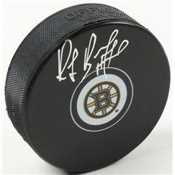 Ray Bourque Signed Bruins Logo Hockey Puck (Schwartz COA)