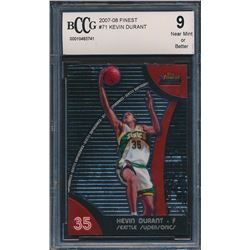 2007-08 Finest #71 Kevin Durant RC (BCCG 9)