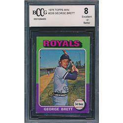 1975 Topps Mini #228 George Brett RC (BCCG 8)