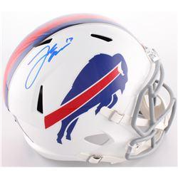 Josh Allen Signed Bills Full-Size Speed Helmet (Beckett COA)