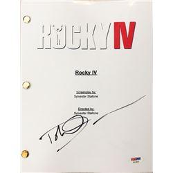 """Dolph Lundgren Signed """"Rocky IV"""" Movie Full Script (PSA COA)"""