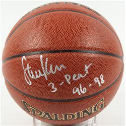 "Steve Kerr Signed NBA Basketball Inscribed ""3-Peat 96-98"" (Schwartz COA)"