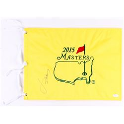 Jordan Spieth Signed 2015 Masters Golf Pin Flag (JSA LOA)