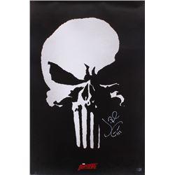 "Jon Bernthal Signed ""The Punisher"" 24x36 Movie Poster With Original Skull Sketch (Radtke COA)"