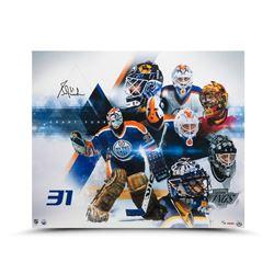 "Grant Fuhr Signed LE Oilers ""Evolution"" 20x24 Photo (UDA COA)"