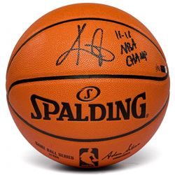 "Kyrie Irving Signed LE Spalding Basketball Inscribed ""11-11 NBA Champ"" (Panini COA)"