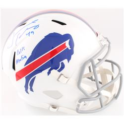 "Tremaine Edmunds Signed Bills Full-Size Speed Helmet Inscribed ""Bills Mafia"" (Beckett COA)"