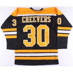 "Gerry Cheevers Signed Bruins Jersey Inscribed ""HOF 85"" (JSA Hologram)"