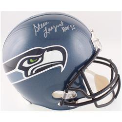 """Steve Largent Signed Seahawks Full-Size Helmet Inscribed """"HOF '95"""" (JSA COA)"""
