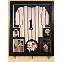 Bobby Richardson Signed Yankees 34x42 Custom Framed Jersey (JSA COA)