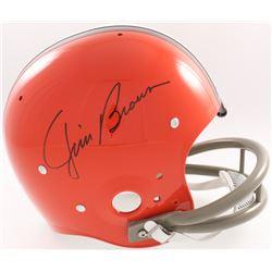 Jim Brown Signed Browns Throwback Suspension Full-Size Helmet (JSA COA, Fanatics Hologram  Denver Au