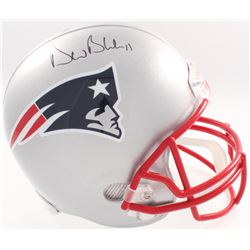 Drew Bledsoe Signed Patriots Full Size Helmet (Beckett COA  Denver Autographs COA)