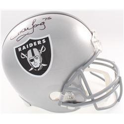 Howie Long Signed Raiders Full-Size Helmet (JSA COA  Denver Autographs COA)