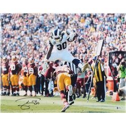 Todd Gurley Signed Rams 16x20 Photo (Beckett COA)