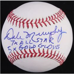 "Dale Murphy Signed OML Baseball Inscribed ""7x All-Star""  ""5x Gold Glove"" (Radtke Hologram)"
