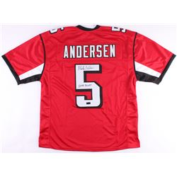 "Morten Anderson Signed Falcons Jersey Inscribed ""2544 Points"" (Radtke COA)"