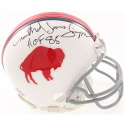 """O.J. Simpson Signed Bills Throwback Mini Helmet with Full Name """"Orenthal James Simpson"""" Inscribed """"H"""