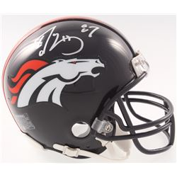 Ed McCaffrey Signed Broncos Mini Helmet (JSA COA)