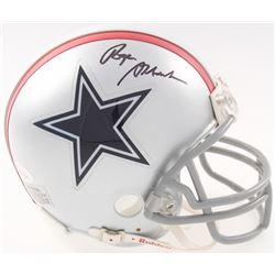 Roger Staubach Signed Cowboys Throwback Mini Helmet (JSA COA)