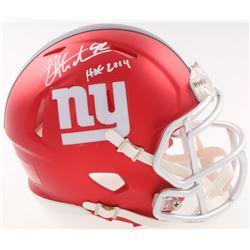 "Michael Strahan Signed Giants Blaze Speed Mini Helmet Inscribed ""HOF 2014"" (JSA COA)"