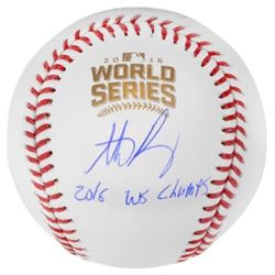 """Anthony Rizzo Signed 2016 World Series Baseball Inscribed """"2016 WS Champs"""" (Fanatics Hologram)"""