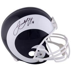 Jared Goff Signed Rams Full-Size Helmet (Fanatics Hologram)