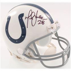 Marshall Faulk Signed Colts Mini-Helmet (JSA COA)