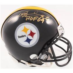 "Rod Woodson Signed Steelers Mini-Helmet Inscribed ""HOF 09"" (JSA COA)"