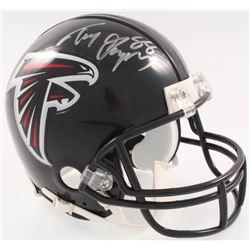 Tony Gonzalez Signed Falcons Mini-Helmet (JSA COA)