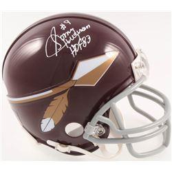 "Sonny Jurgensen Signed Redskins Throwback Mini-Helmet Inscribed ""HOF 83"" (JSA COA)"