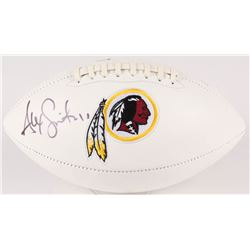 Alex Smith Signed Redskins Logo Football (Beckett COA)