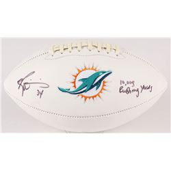 "Ricky Williams Signed Dolphins Logo Football Inscribed ""10,009 Rushing Yards"" (JSA COA)"